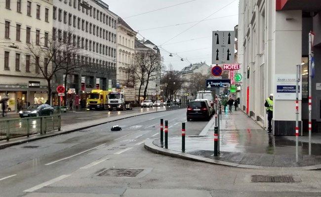 Auf der Wiedner Hauptstraße kam es am Donnerstag zu einem schweren Unfall.