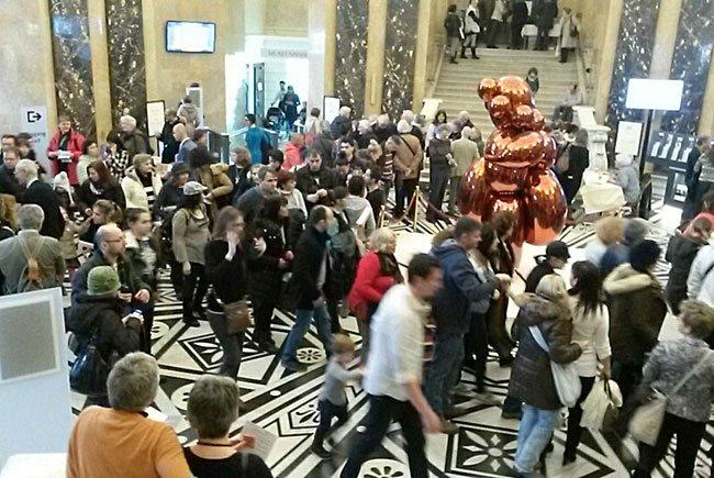 Im Naturhistorischen Museum war der Andrang beim Welttag der Fremdenführer riesengroß