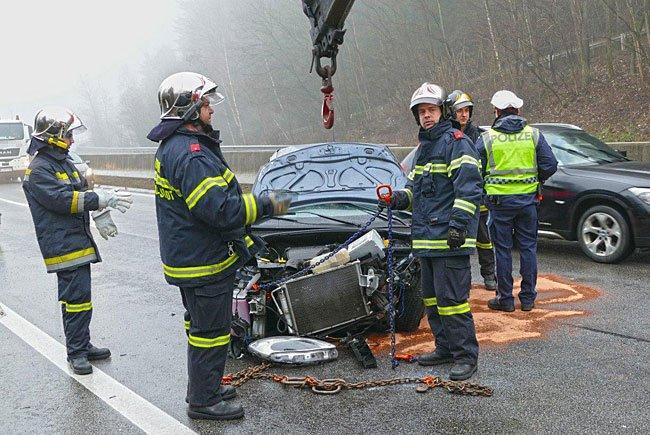 Einsatz auf der S6 nach dem Unfall