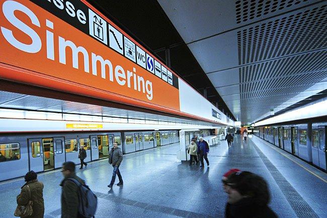 Die Frau wurde in der U3-Station Simmering durch Obszönitäten belästigt