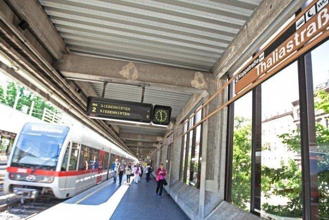 In der U6-Station Thaliastraße wurde der junge Bursche von der U-Bahn erfasst