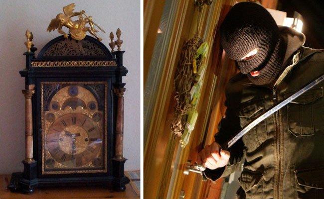 Diese antike Standuhr nahmen die Einbrecher in Döbling mit