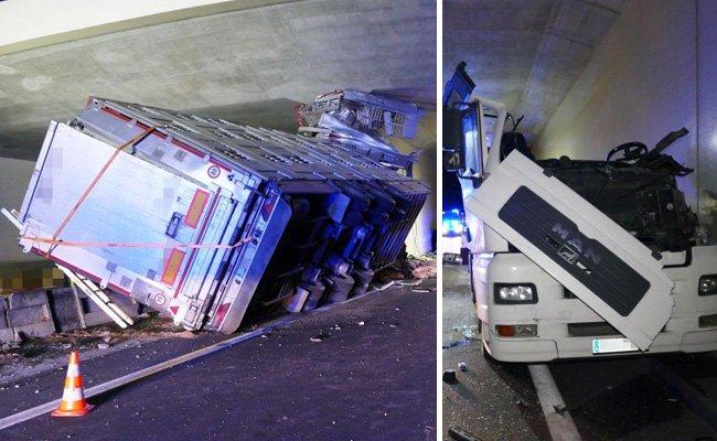 Das immense Ausmaß der Zerstörung nach dem schweren Unfall.