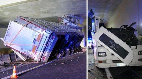 Lkw-Fahrer bei schwerem Unfall mit Viehtransporter getötet