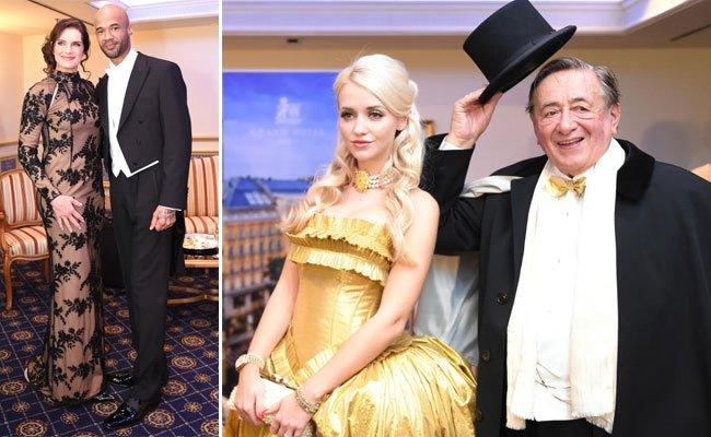 Alle sind bereit: Die Lugners und ihre Stars sind in Opernball-Montur.