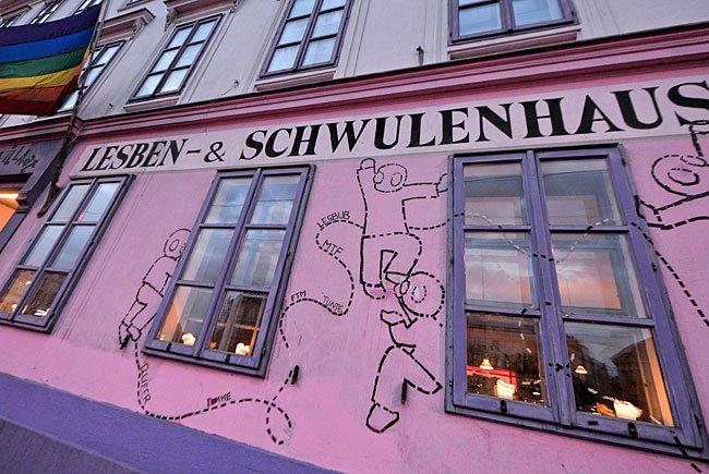 """Die """"Rosa Lila Villa"""", das Wiener Lesben- und Schwulenhaus"""