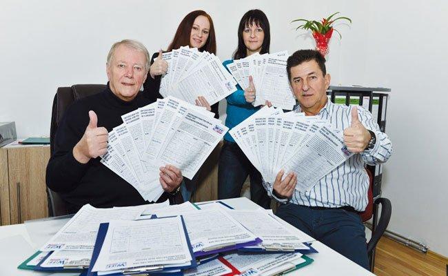 Das WIFF zeigt sich erfreut über die vielen Unterschriften.