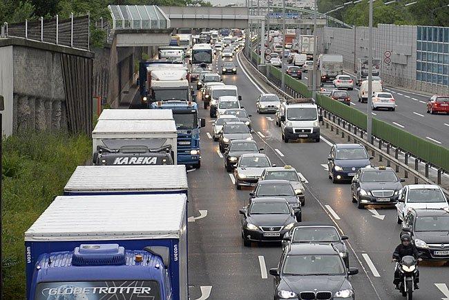 Ein Unfall auf der A22 sorgte für langen Stau