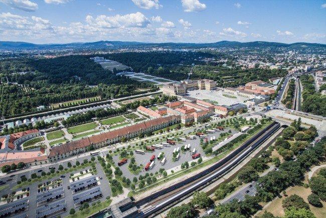 Der geplante Bau von Parkplätzen auf dem Vorplatz des Schlosses Schönbrunn sorgt für Zündstoff.