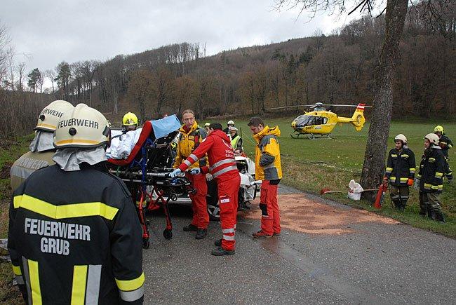 Vier Feuerwehren waren an der Unfallstelle im Einsatz