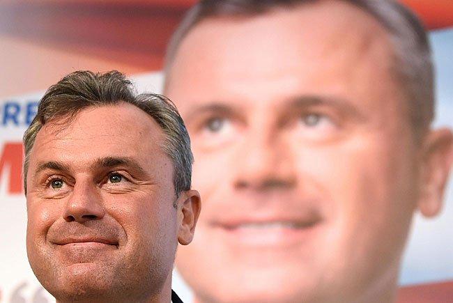 FPÖ-Präsidentschaftskandidat Norbert Hofer bei der Plakat-Präsentation