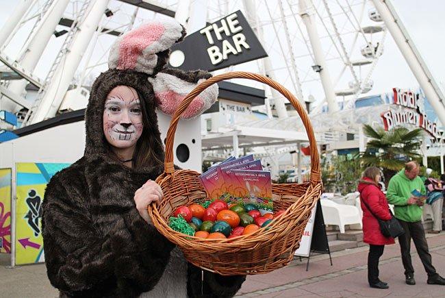 Zu Ostern ist im Prater der Hase los