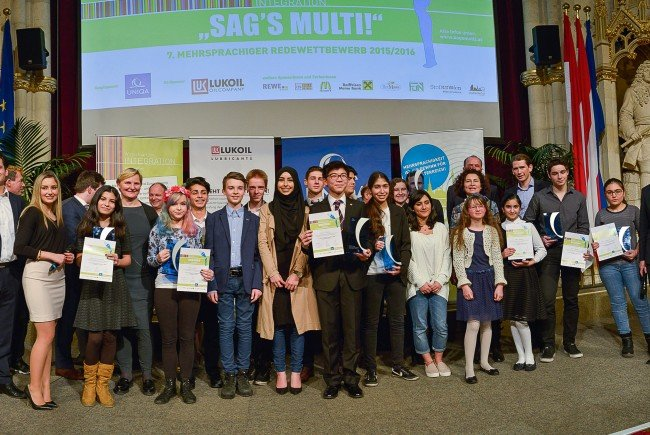 """Die Gewinner des """"SAG'S MULTI!""""-Wettbewerbs 2016."""