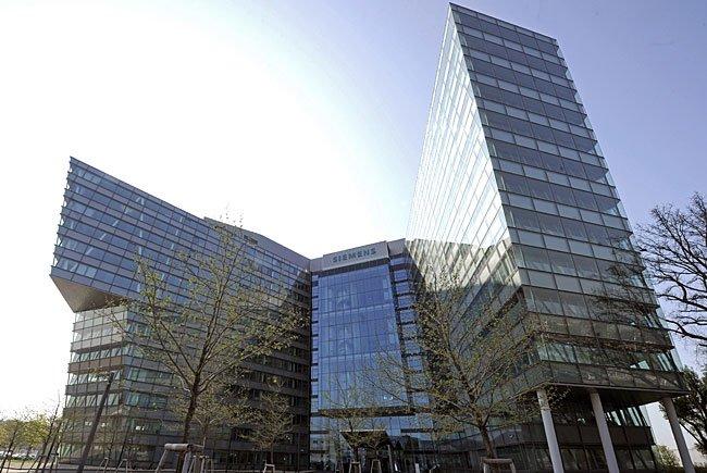 Eine Ansicht der Firmenzentrale des Technologiekonzern Siemens AG Österreich in Wien