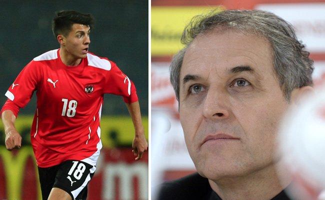 Alessandro Schöpf (l.) darf sich Hoffnungen auf seinen ersten A-Team-Einsatz machen.