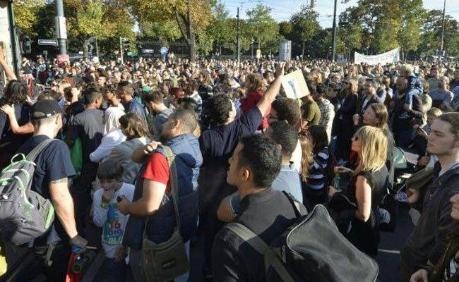 In Wien wird am Samstag pro Flüchtlinge demonstriert.