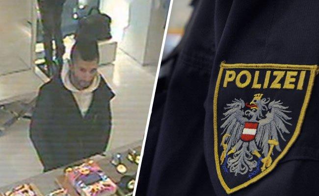 Die Polizei sucht nach dem Tatverdächtigen auf dem Foto.