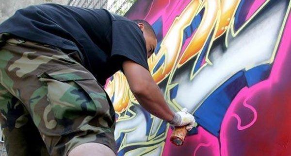 Drei junge Burschen wurden beim Graffiti-Sprühen erwischt