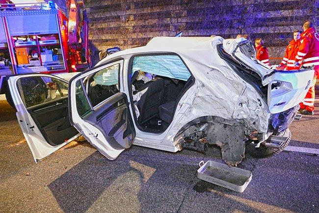 Die Unfallstelle auf der S6