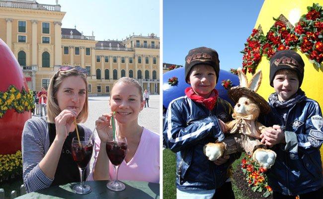 Der Ostermarkt Schloß Schönbrunn hat Groß und Klein einiges zu bieten