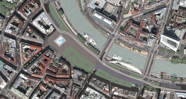 Für die Autofahrer wird am Schwedenplatz eine Spur weniger zur Verfügung stehen.