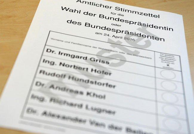 Der amtliche Stimmzettel: So sieht er aus.