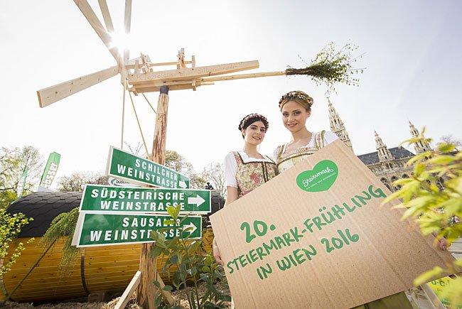 Bereits zum 20. Mal findet das Steiermark-Dorf in Wien statt