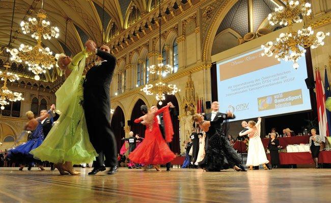 Tanzsport auf Top-Niveau im Wiener Rathaus.