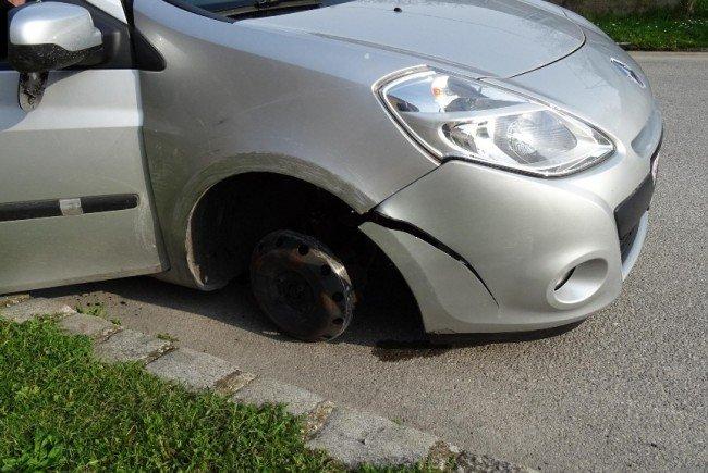 Kein Wunder, dass das Auto schließlich fahrunfähig war.
