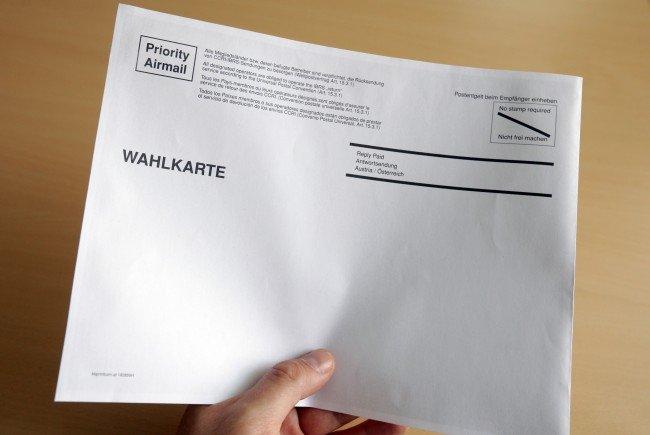 Die Wahlkarte für die Bundespräsidentenwahl.