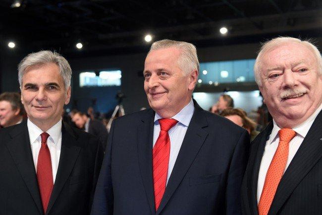 Noch wollen sich die SPÖ-Granden ihr Lächeln nicht vermiesen lassen.