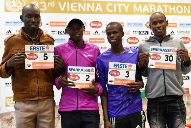 Suleiman Simotwo (KEN), Levy Matebo (KEN), Robert Chemosin (KEN) und David Kogei (KEN).