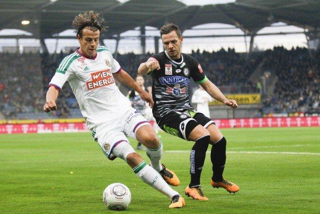 Rapid und Sturm treffen in Wien zum letzten Mal in dieser Saison aufeinander.