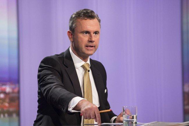 Norbert Hofer rechnet mit einer Stichwahl gegen Alexander Van der Bellen.