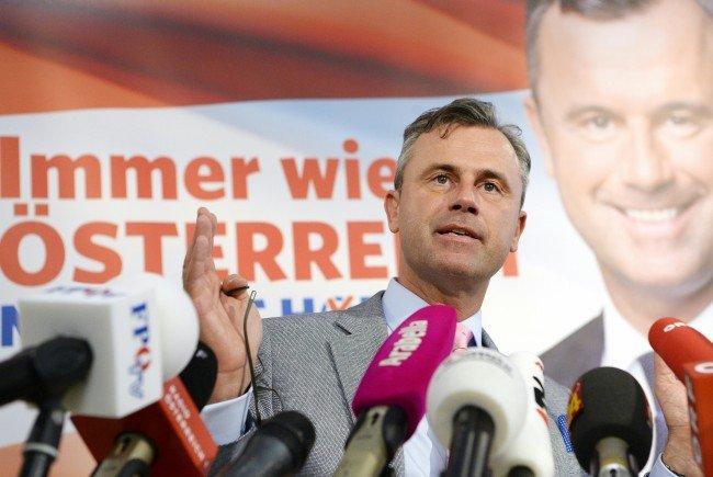 Norbert Hofer geht wohl als Favorit in die Stichwahl gegen Alexander Van der Bellen.