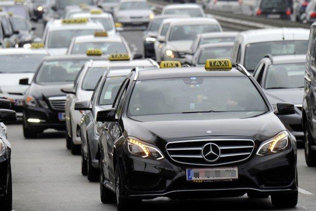 Taxi-Demo in Wien.