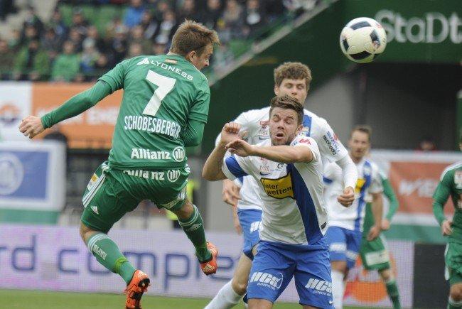 Rapid gastiert in der 33. Bundesligarunde beim SV Grödig.