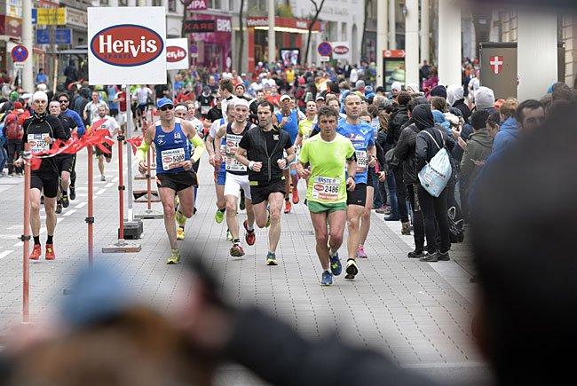 Beim Vienna City Marathon 2016