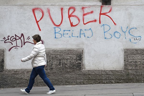 Puber hat wieder in Wien gesprayt - und wurde wieder verhaftet.