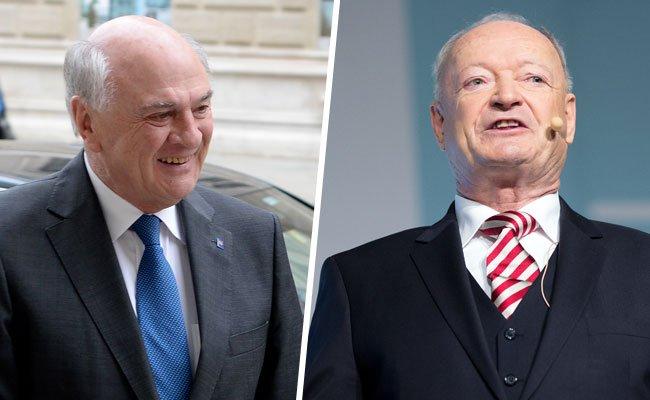 Erwin Pröll versichert die Unterstützung der NÖ Volkspartei für BP-Kandidat Andreas Khol.