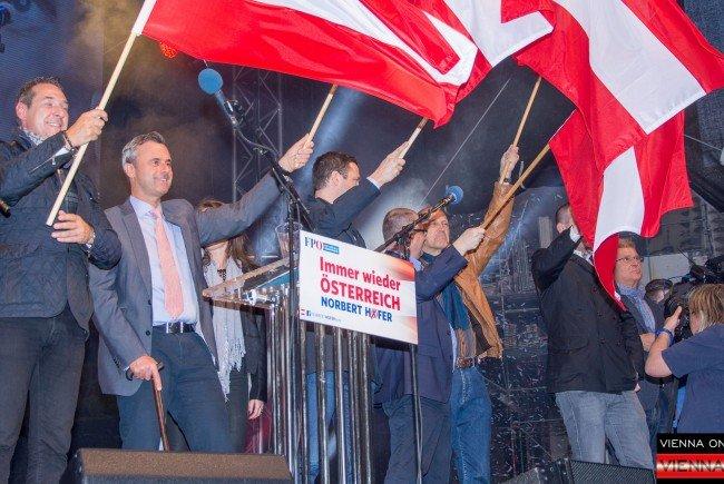 Der Wahlkampf-Abschluss der FPÖ erfolgte in erwartet traditioneller Manier.