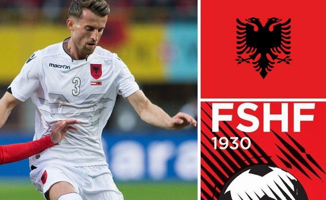Kader und Teamportrait der albanischen Nationalmannschaft.