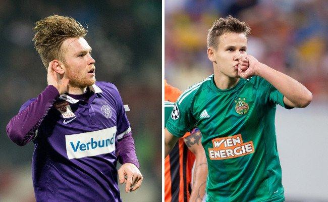 Kevin Friesenbichler (l.) könnte im Sommer zurück nach Lissabon müssen, Louis Schaub hat internationales Interesse geweckt.
