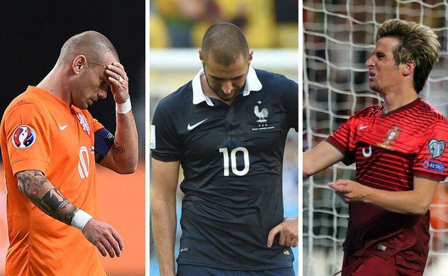 Wesley Sneijder, Karim Benzema und Fábio Coentrão sind nicht dabei.