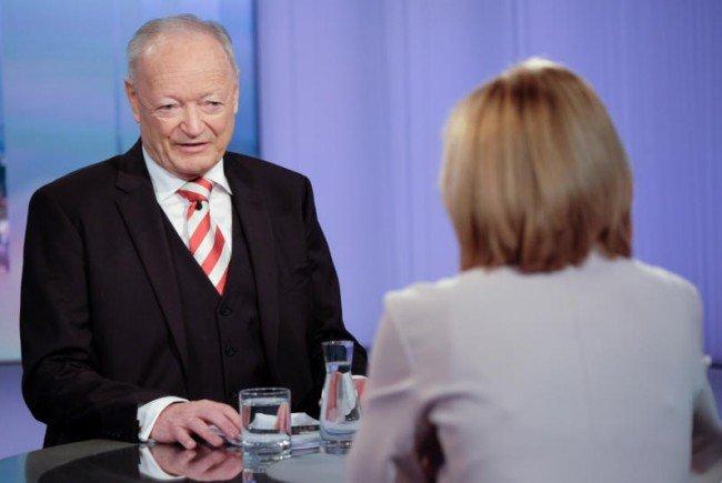 """Andreas Khol in der """"Pressestunde""""."""