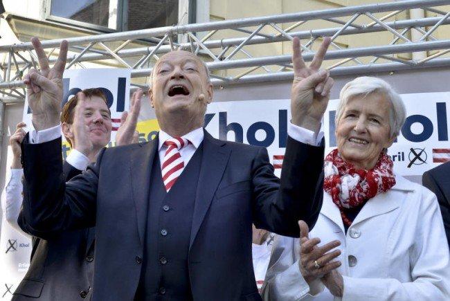 Endspurt bei Kandidat Khol und den Schwarzen.