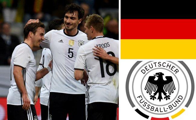 Kader und Teamportrait der deutschen Nationalmannschaft.