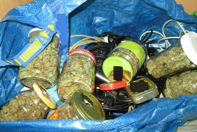 Ein Teil der sichergestellten Cannabisfunde in Wien.