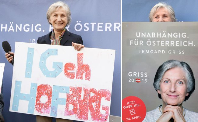 Gut gelaunt beging Kandidatin Griss ihren Wahlkampf-Abschluss.