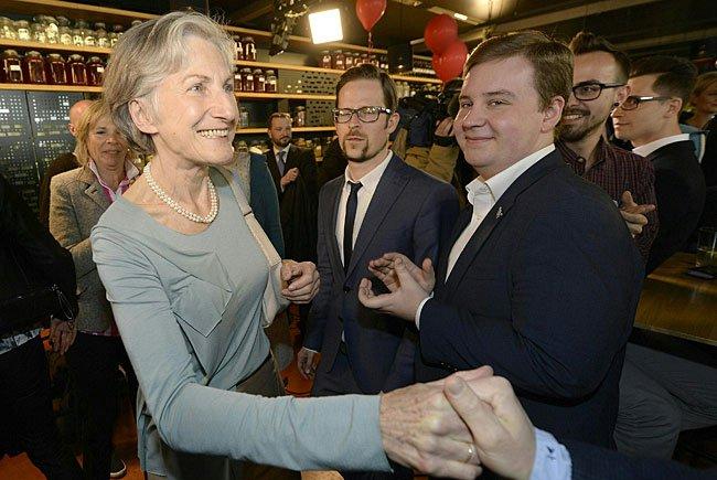 Bei der Wahlfeier von Irmgard Griss